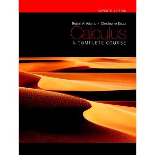 calculus a complete course 7th edition solutions pdf