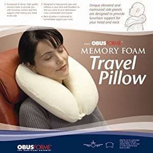 Obusforme Memory Foam Travel Pillow