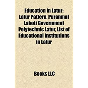 Education in Latur: Latur Pattern: Amazon.ca: LLC Books: Books